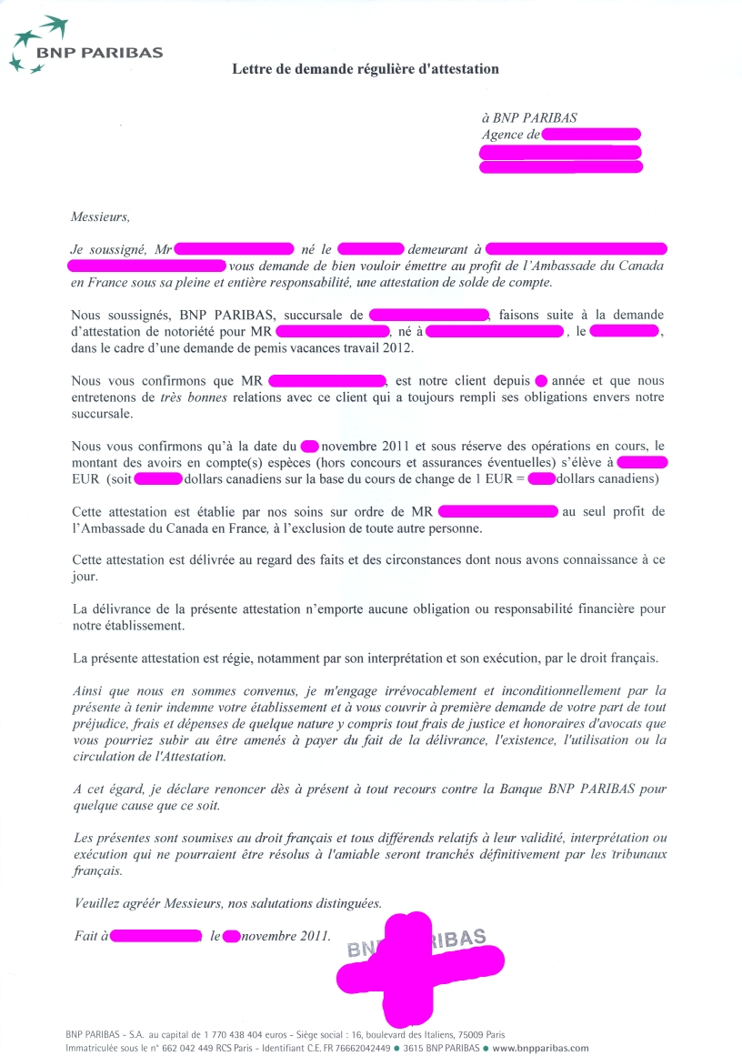 lettre de motivation pvt argentine exemple