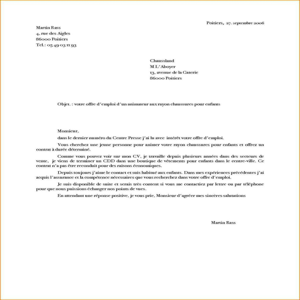 lettre de motivation candidature spontan u00e9e vendeuse confirm u00e9e