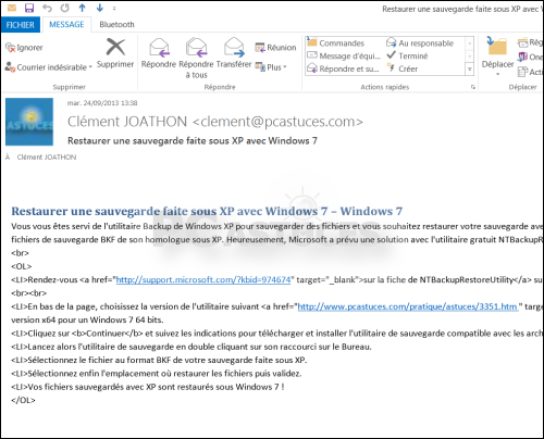 exemple de mail avec cv