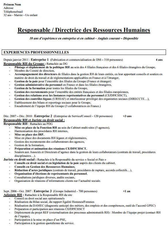 exemple de cv charge de recouvrement
