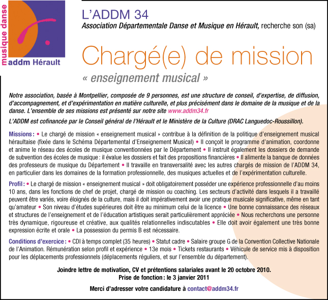 lettre de motivation charg u00e9 de mission