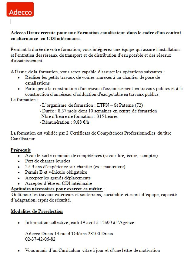 lettre de motivation cdi interim