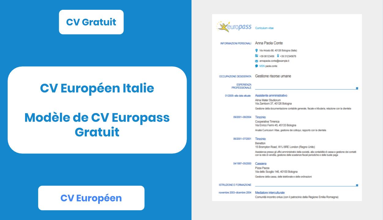 Exemple de cv europass gratuits - laboite-cv.fr