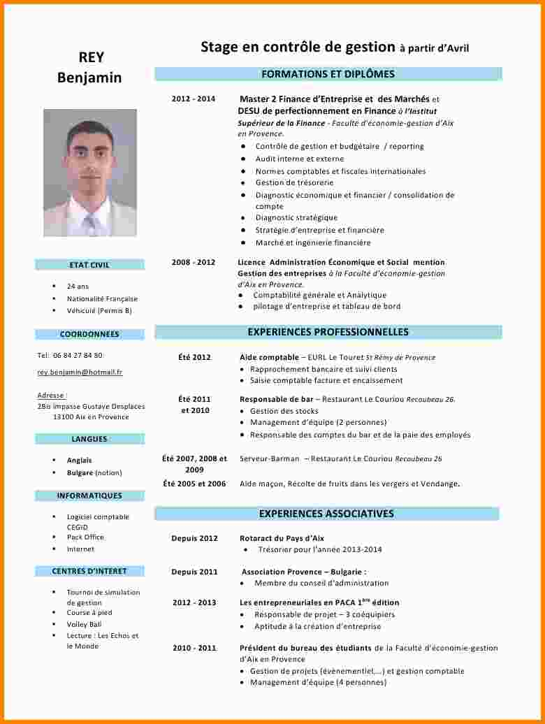 exemple de cv nationalit u00e9