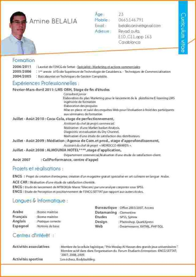 exemple de cv word pour centre d u0026 39 appel