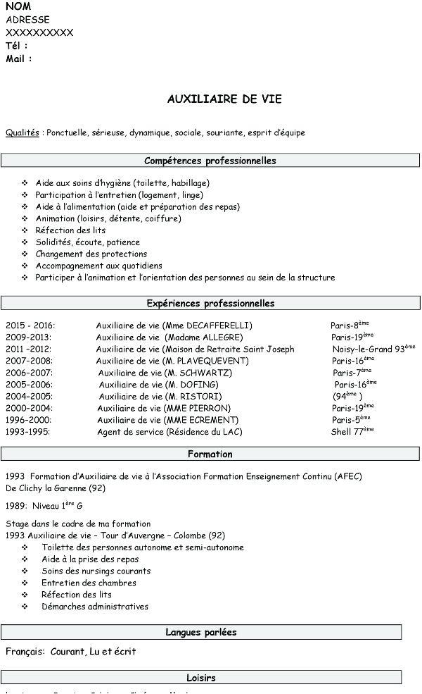 Exemple de cv entretien - laboite-cv.fr