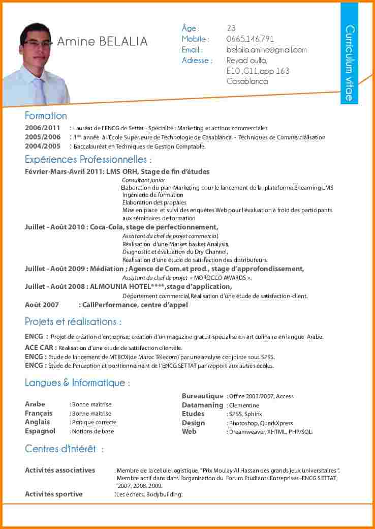 exemple de cv comptable word