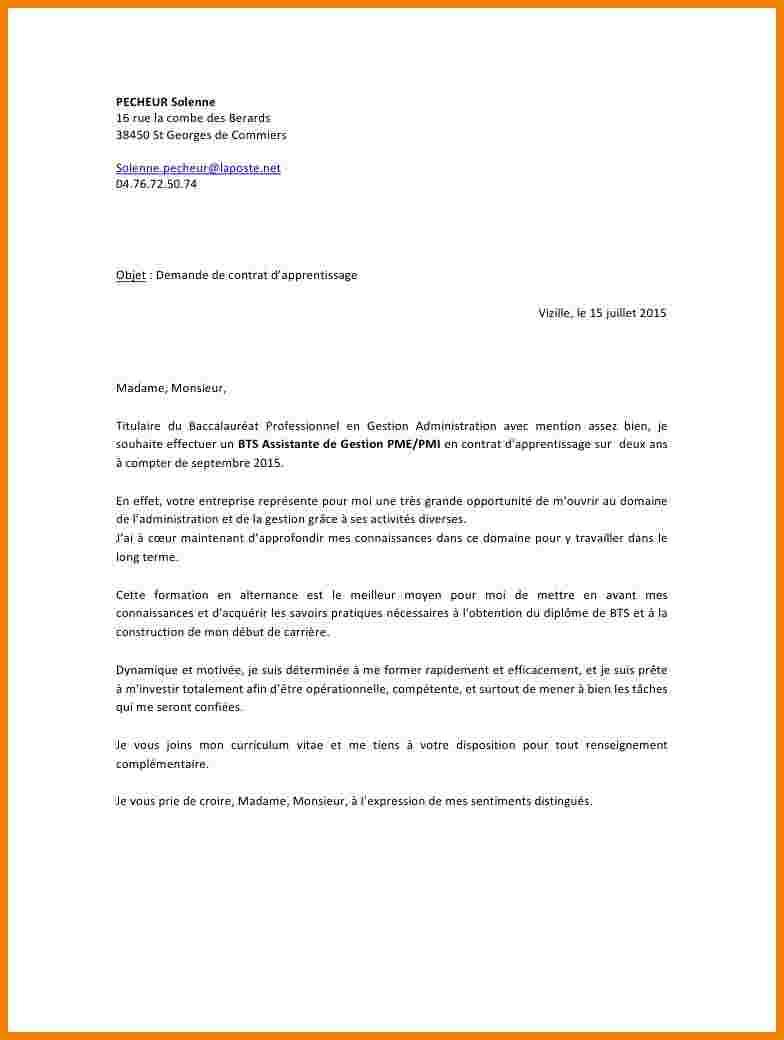 lettre motivation bts assistant de gestion pme pmi