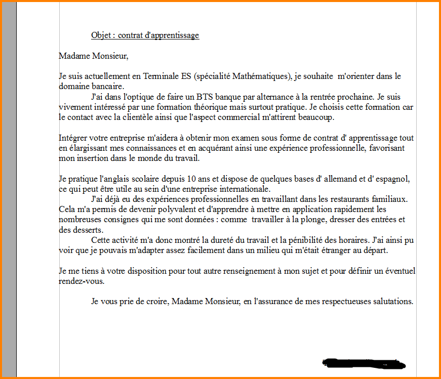 lettre de motivation maintenance industrielle en