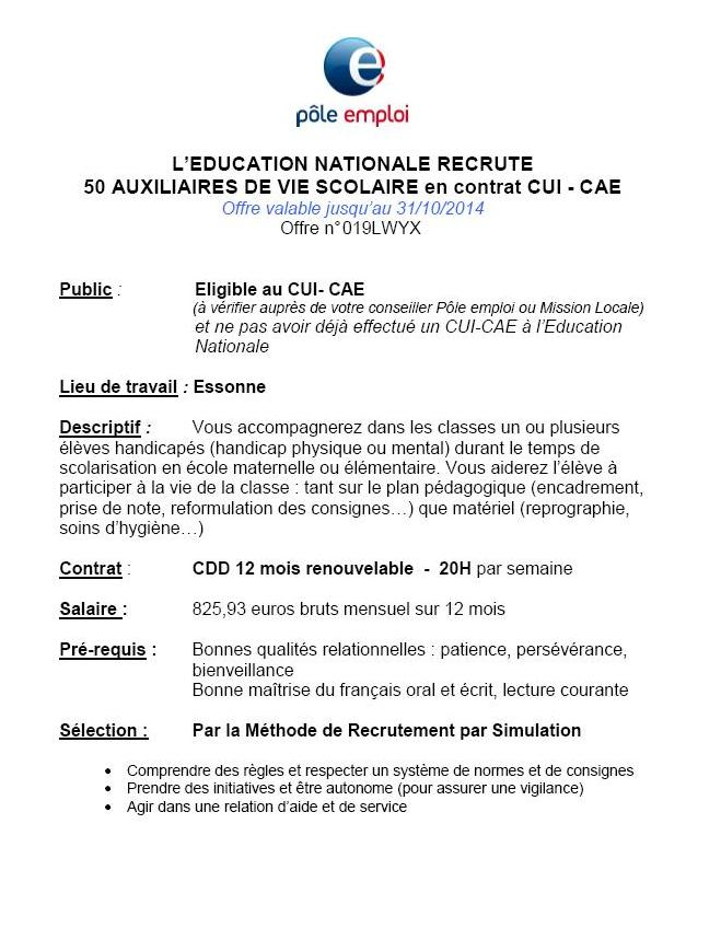 lettre de motivation pour education nationale