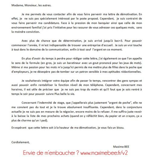 Lettre de motivation muc alternance