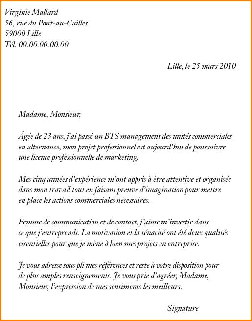 lettre motivation  u00e9cole de commerce
