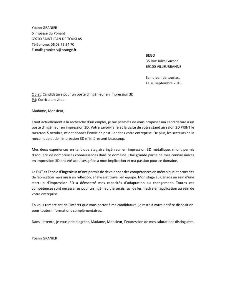 lettre de motivation ing u00e9nieur m u00e9canique