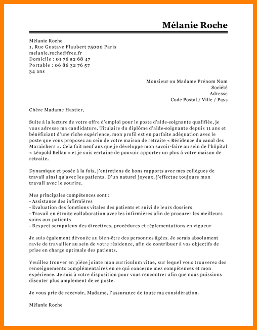 lettre de motivation infirmiere pediatrie