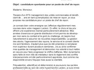 Lettre De Motivation Employe Libre Service Leclerc Laboite Cv Fr