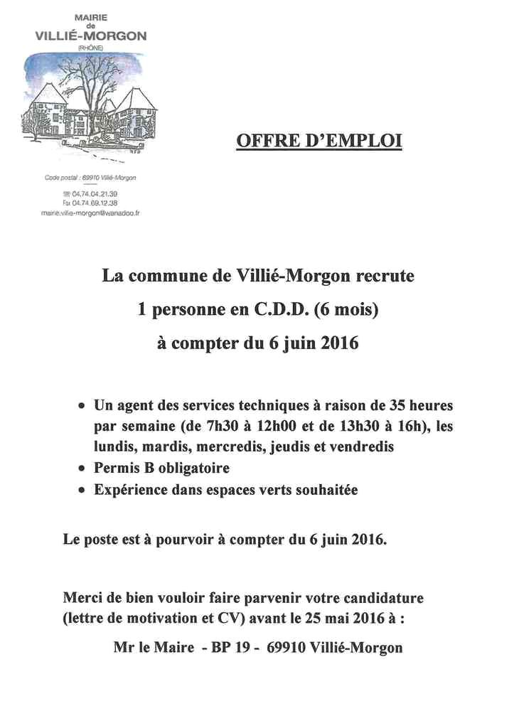 lettre de motivation stage 3eme mairie