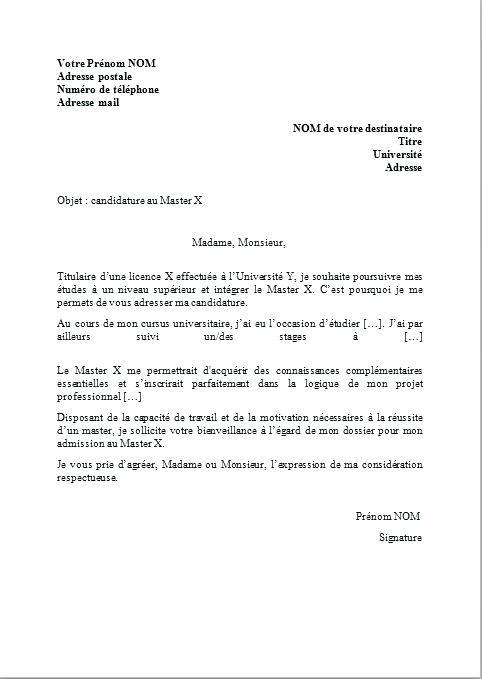 lettre de motivation master finance de march u00e9