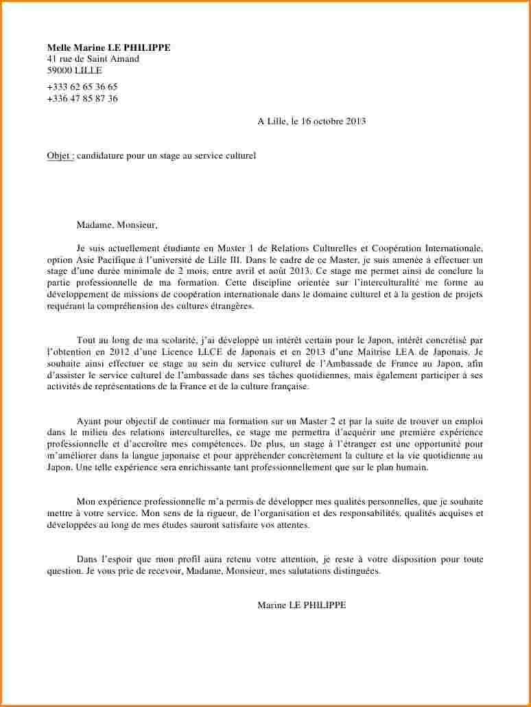 Lettre de motivation master lea - laboite-cv.fr