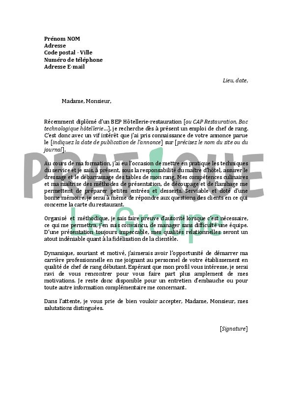 lettre de motivation secr u00e9taire d u00e9butant