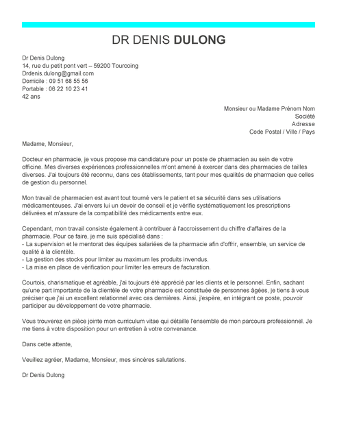 lettre de motivation pr u00e9parateur en pharmacie hospitaliere