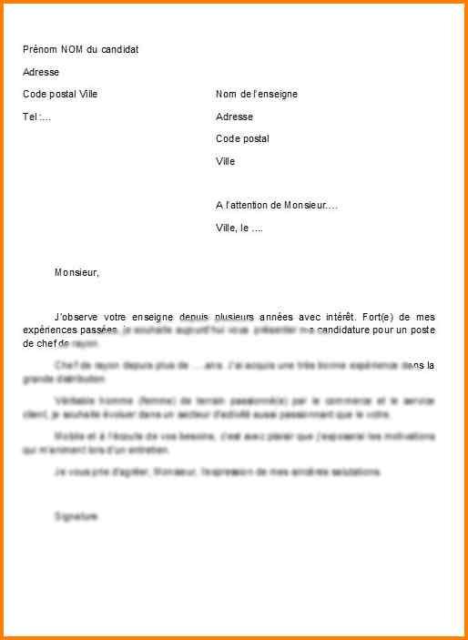 lettre de motivation senior