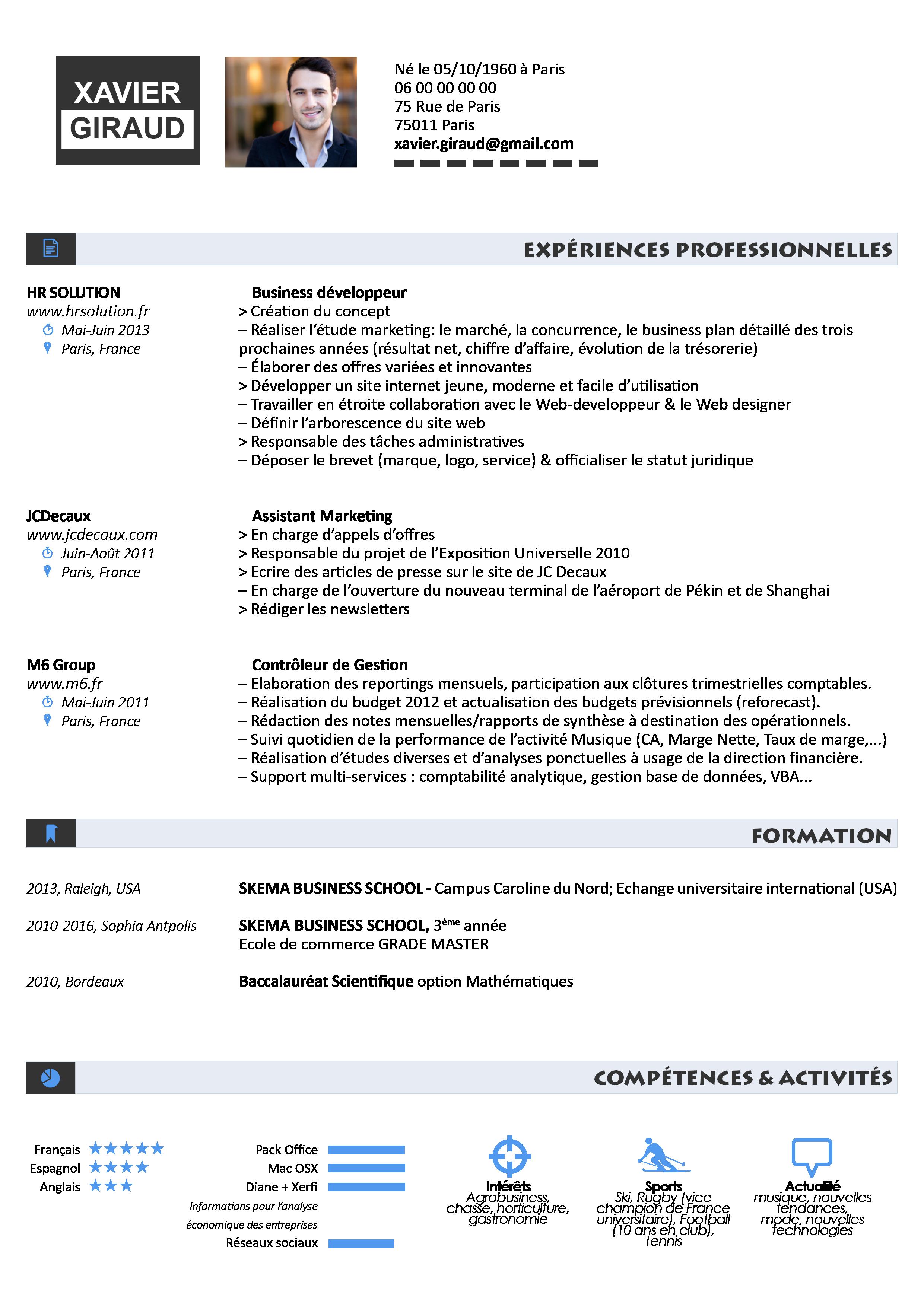 exemple de synth u00e8se pour un cv