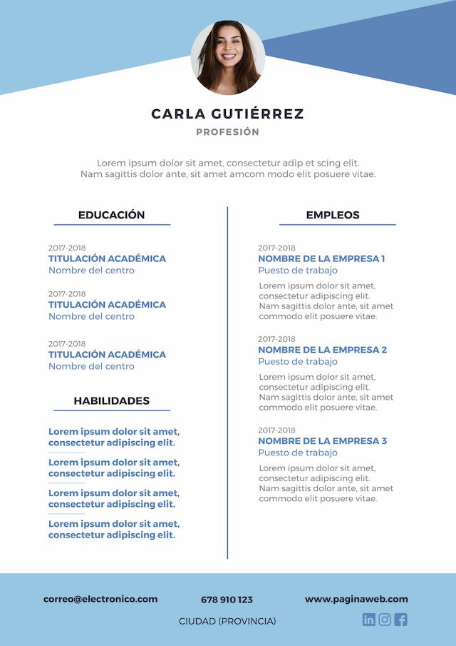 modelos de curriculum vitae modernos
