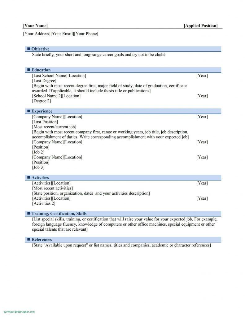 curriculum vitae format open office