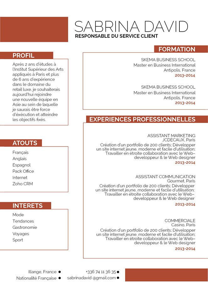 exemple de cv qui sort du lot