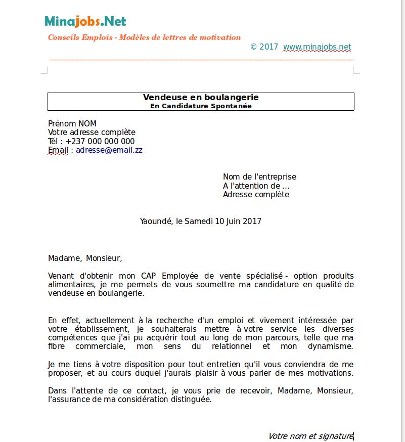 Modele Lettre De Motivation Chef De Projet: Lettre De Motivation Employé Libre Service Candidature