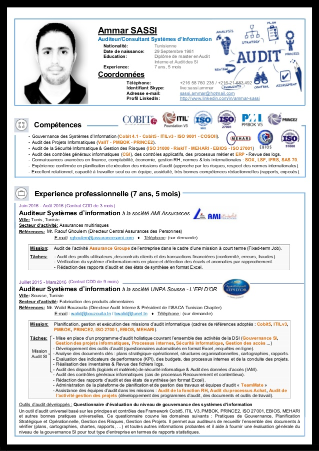 exemple de cv formateur oracle