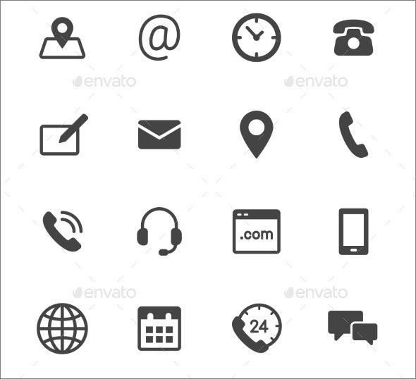 icones pour curriculum vitae