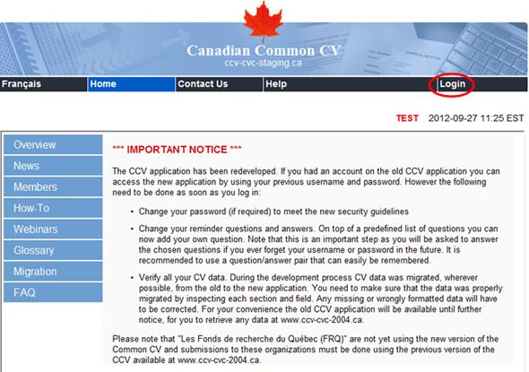 canadian curriculum vitae