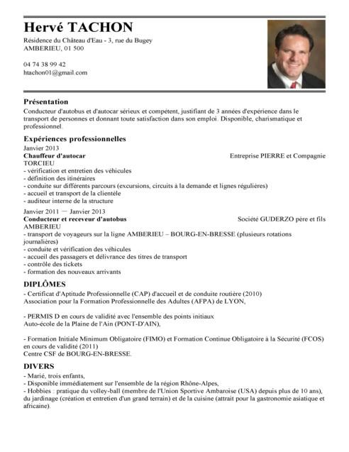 Exemple de cv chauffeur - laboite-cv.fr