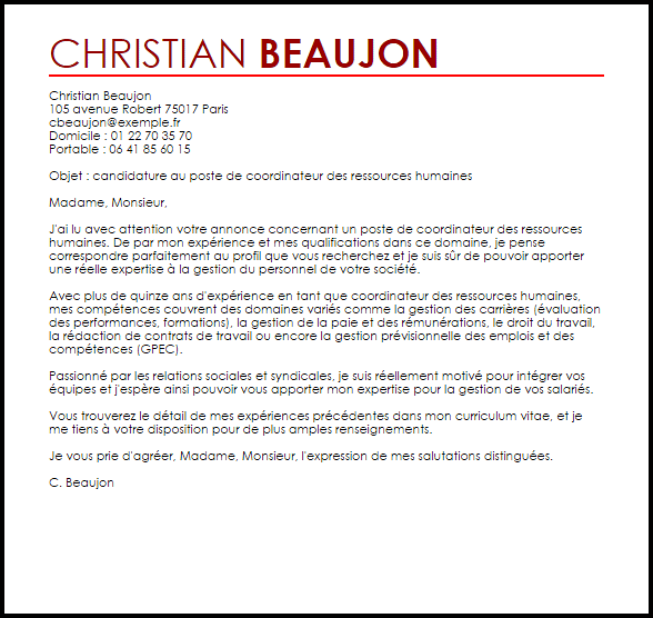 lettre de motivation assistant de justice