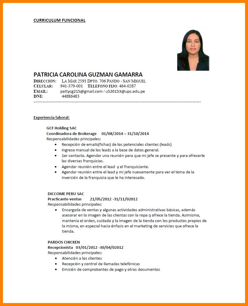 Exemplos De Curriculum Vitae Em Portugues Laboite Cv Fr