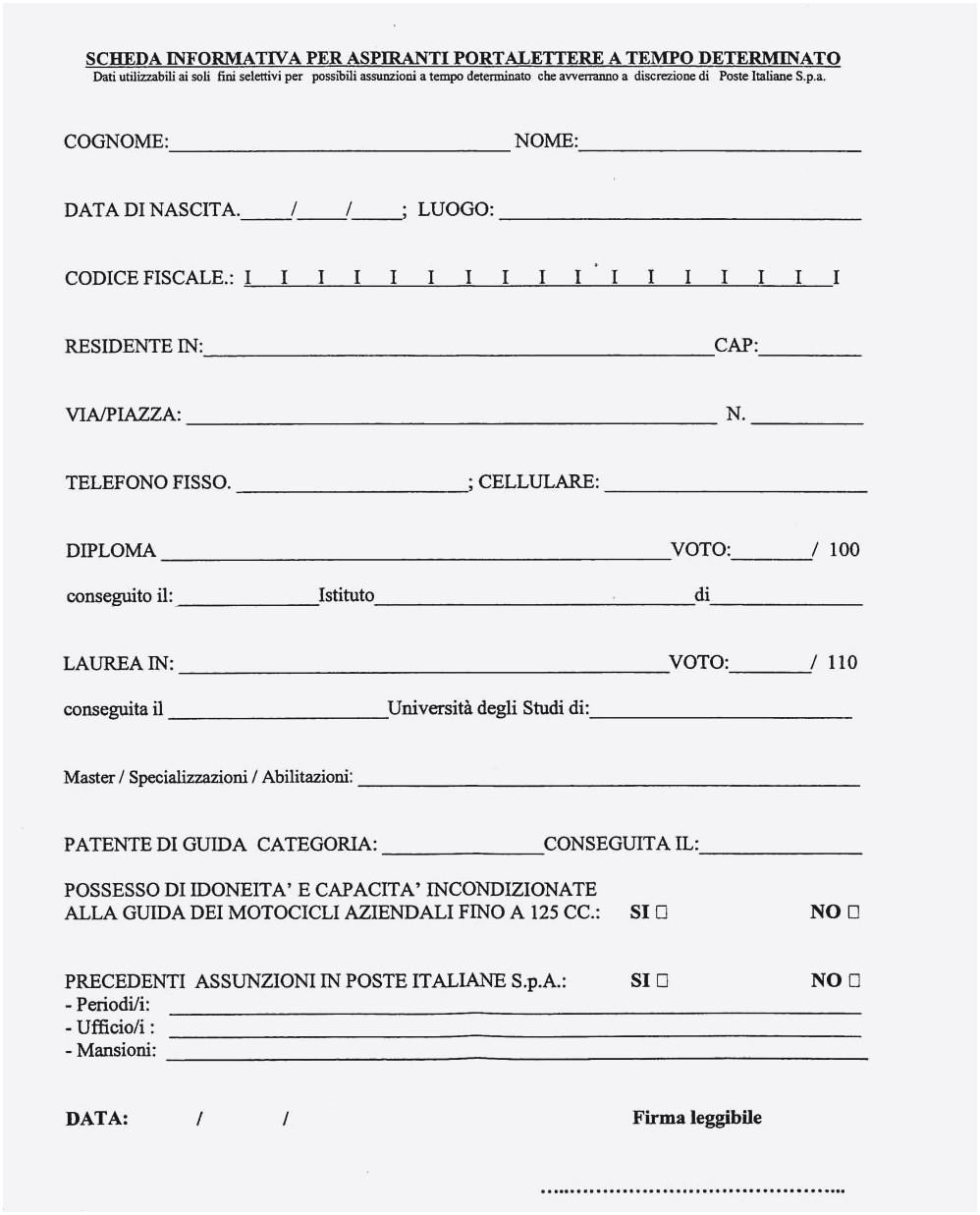 curriculum vitae da compilare pdf