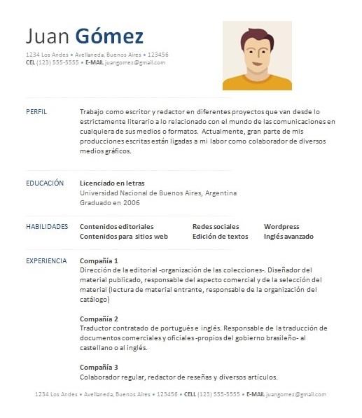 curriculum vitae portugues word