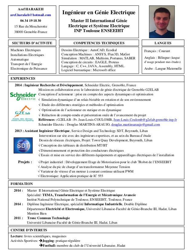 Exemple de cv ingénieur électricien - laboite-cv.fr