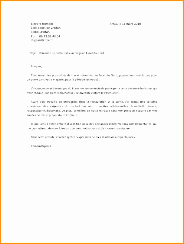 lettre de motivation diplomatie