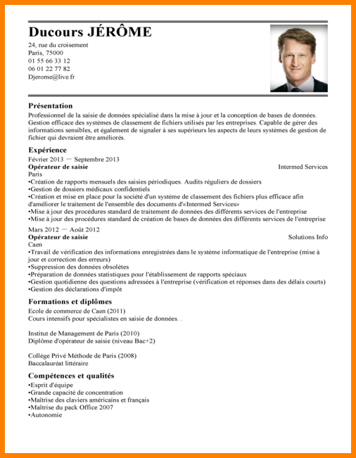 exemple de cv operateur de fabrication des industries