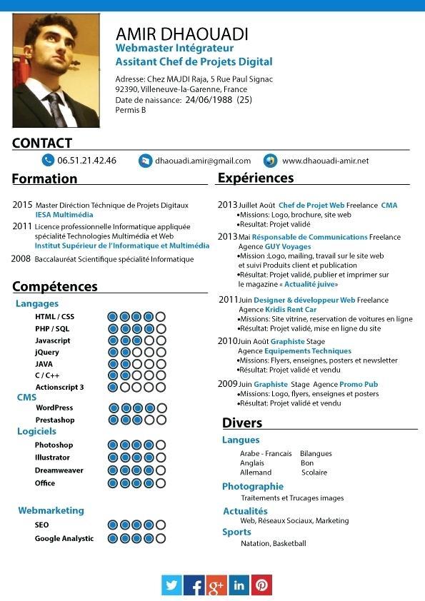 Exemple de cv responsable de projet - laboite-cv.fr