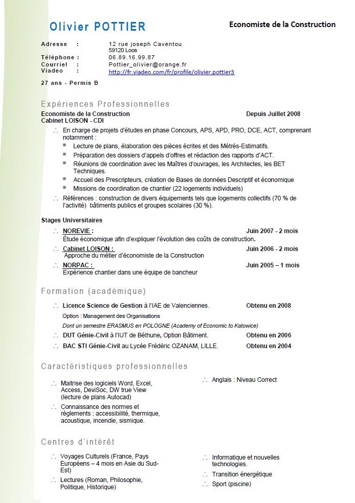 construction d u0026 39 un curriculum vitae
