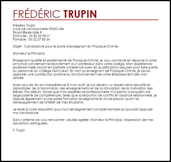 lettre de motivation prof lyc u00e9e professionnel