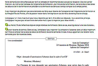 Exemple de lettre de motivation pour demande de financement fongecif