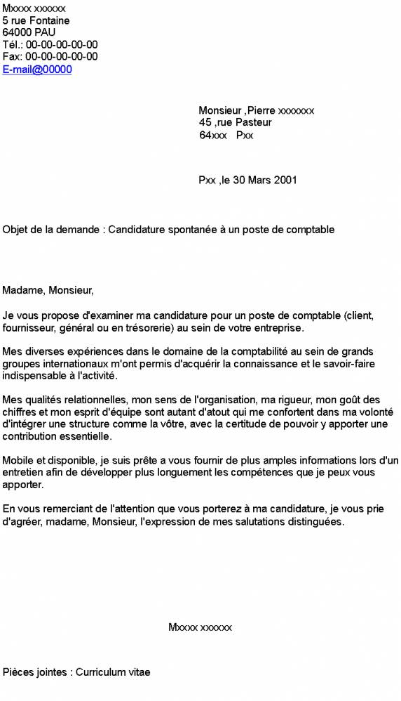 lettre de motivation pour candidature interne