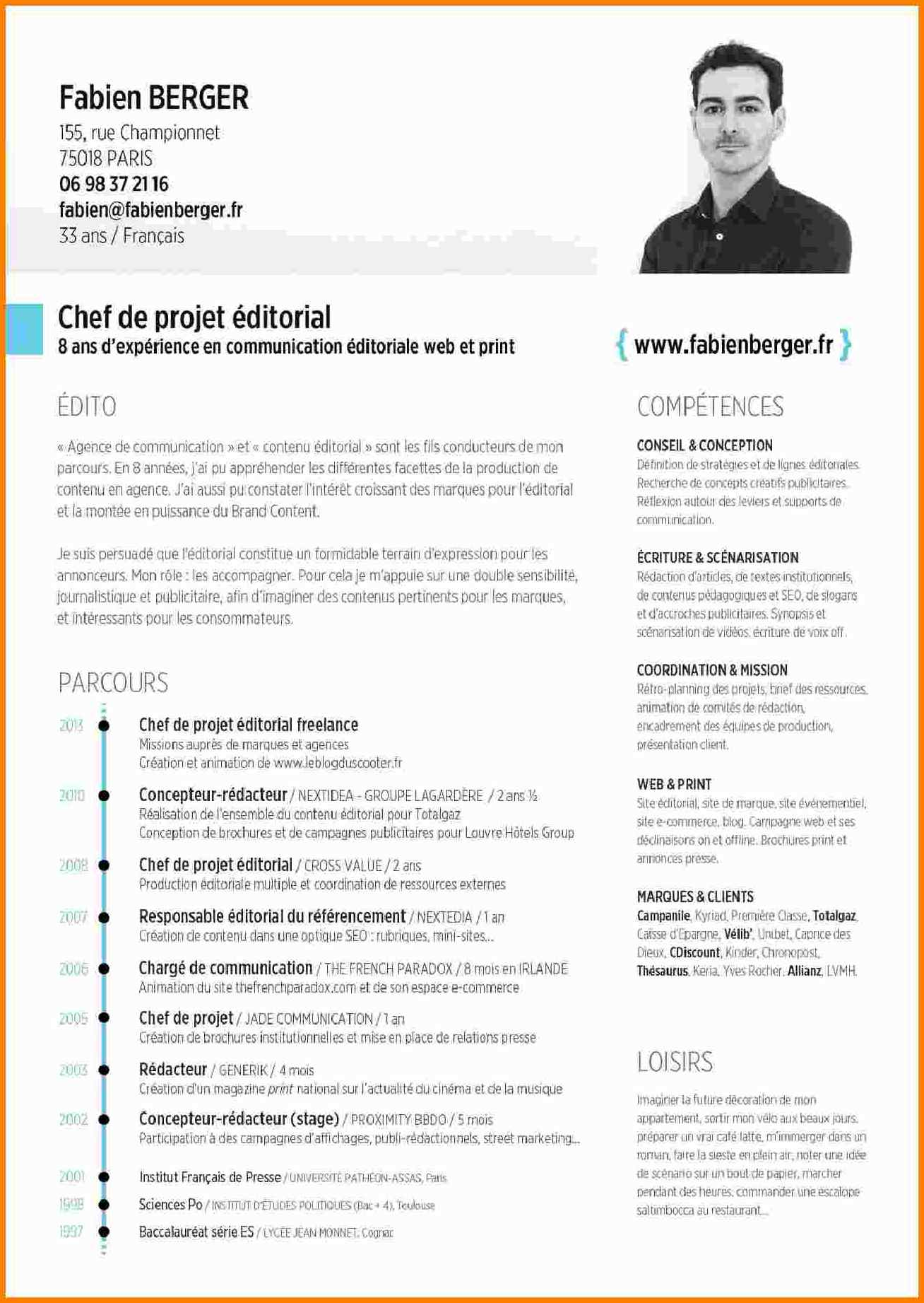 exemple de cv directeur de projet informatique