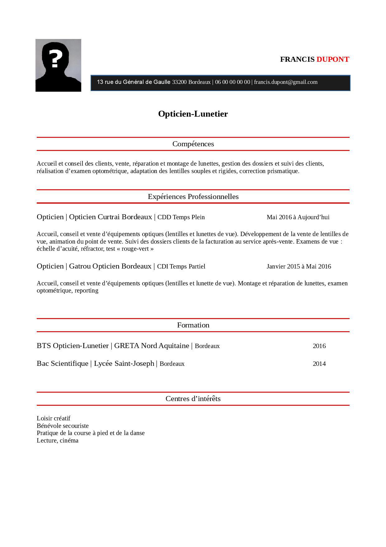 Exemple de cv charge de facturation - laboite-cv.fr