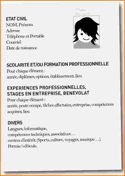 exemple de cv  u00e9tudiant pour job