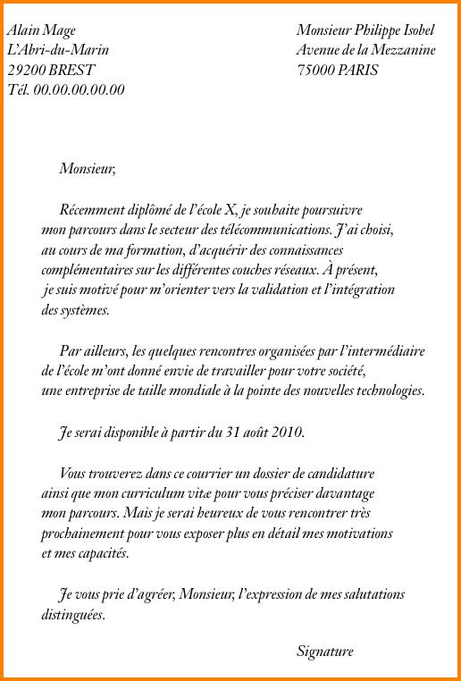 Presentation D Une Lettre De Motivation Laboite Cv Fr